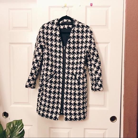 Zara Jackets & Blazers - Zara Houndstooth Pattern Coat